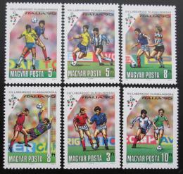 Poštovní známky Maïarsko 1990 MS ve fotbale Mi# 4087-92