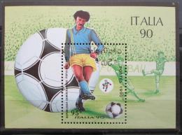 Poštovní známka Laos 1990 MS ve fotbale Mi# Block 130