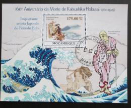 Poštovní známka Mosambik 2009 Umìní, Katsushika Hokusai Mi# Block 280 - zvìtšit obrázek