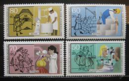 Poštovní známky Nìmecko 1986 Profesní trénink Mi# 1274-77 Kat 6.50€