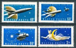 Poštovní známky Maïarsko 1961 Prùzkum vesmíru Mi# 1758-61
