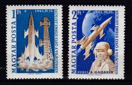 Poštovní známky Maïarsko 1961 Let do vesmíru Mi# 1753-54