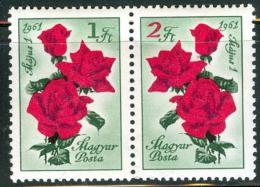 Poštovní známky Maïarsko 1961 Den práce, kvìtiny Mi# 1755-56