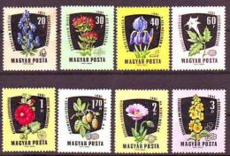 Poštovní známky Maïarsko 1961 Léèivé rostliny Mi# 1799-1806