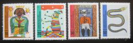 Poštovní známky Nìmecko 1971 Dìtské kresby Mi# 660-63