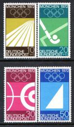 Poštovní známky Nìmecko 1969 LOH Mnichov Mi# 587-90