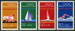Poštovní známky Nìmecko 1972 LOH Mnichov Mi# 719-22