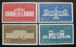 Poštovní známky Nìmecko 1970 Mnichovské budovy Mi# 624-27