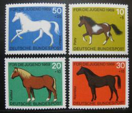 Poštovní známky Nìmecko 1969 Konì Mi# 578-81