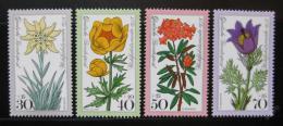 Poštovní známky Nìmecko 1975 Alpské kvìtiny Mi# 867-70