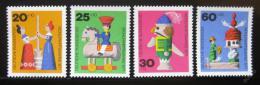 Poštovní známky Nìmecko 1971 Døevìné hraèky Mi# 705-08