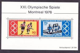 Poštovní známky Nìmecko 1976 LOH Montreal Mi# Block 12
