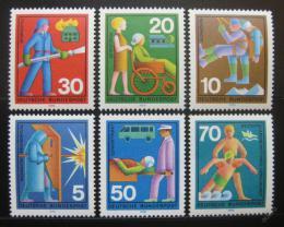 Poštovní známky Nìmecko 1970 Služby dobrovolníkù Mi# 629-34