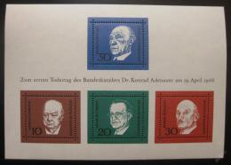 Poštovní známky Nìmecko 1968 Osobnosti Mi# Block 4