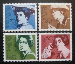 Poštovní známky Nìmecko 1975 Spisovatelky Mi# 826-29