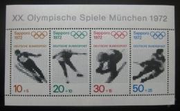 Poštovní známky Nìmecko 1971 ZOH Mnichov Mi# Block 6