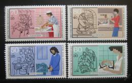 Poštovní známky Nìmecko 1987 Mladí v prùmyslu Mi# 1315-18