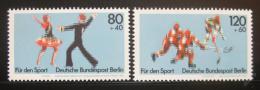 Poštovní známky Západní Berlín 1983 Sporty Mi# 698-99