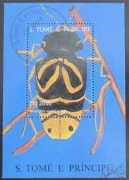 Poštovní známka Svatý Tomáš 1996 Brouk Mi# Block 360