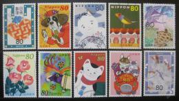 Poštovní známky Japonsko 2003 Pozdravy Mi# 3458-67