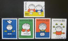 Poštovní známky Japonsko 1998 Den psaní Mi# 2575-79
