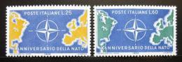 Poštovní známky Itálie 1959 Výroèí NATO Mi# 1032-33