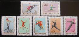 Poštovní známky Maïarsko 1963 ME v krasobruslení Mi# 1898-1904