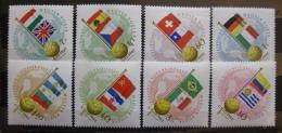 Poštovní známky Maïarsko 1962 MS ve fotbale Mi# 1830-37