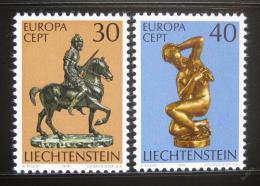 Poštovní známky Lichtenštejnsko 1974 Evropa CEPT, sochy Mi# 600-01
