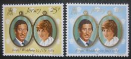 Poštovní známky Jersey 1981 Královská svatba Mi# 262-63