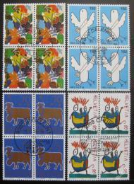 Poštovní známky Švýcarsko 1996 Designy známek, ètyøbloky Mi# 1593-96 Kat 22€