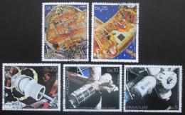 Poštovní známky Paraguay 1988 Prùzkum vesmíru Mi# 4201-05