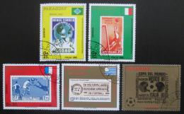 Poštovní známky Paraguay 1988 MS ve fotbale Mi# 4242-46