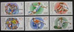 Poštovní známky DDR 1987 Sporty Mi# 3111-16