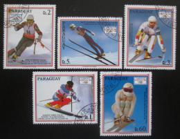 Poštovní známky Paraguay 1990 ZOH Albertville Mi# 4471-75