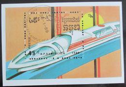 Poštovní známka Kambodža 1989 Rychlovlak, Mi# Block 163