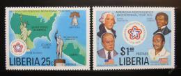 Poštovní známky Libérie 1976 Americká revoluce Mi# 1013-14