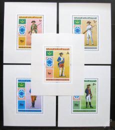 Poštovní známky Mauritánie 1976 Vojenské uniformy Deluxe Mi# 528-33