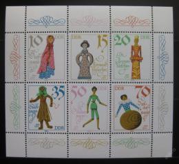 Poštovní známky DDR 1979 Historické panenky Mi# 2472-77