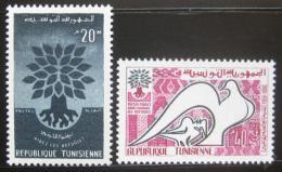 Poštovní známky Tunisko 1960 Rok uprchlíkù Mi# 549-50