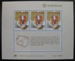 Poštovní známky Azory 1985 Evropa CEPT Mi# Block 6