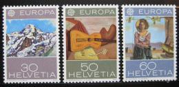 Poštovní známky Švýcarsko 1975 Evropa CEPT, umìní Mi# 1050-52