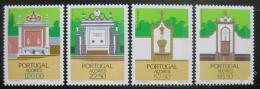 Poštovní známky Azory 1986 Regionální architektura Mi# 377-80