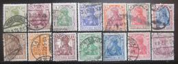Poštovní známky Nìmecko 1920 Germania Mi# 140-53 Kat 35€