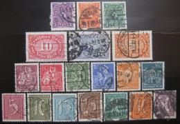 Poštovní známky Nìmecko 1921 Rùzné motivy Mi# 158-76 Kat 75€