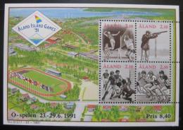 Poštovní známky Alandy 1991 Ostrovní hry Mi# Block 1