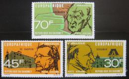 Poštovní známky Dahomey 1968 Ekonomická spolupráce Mi# 349-51