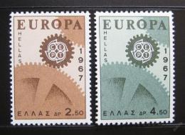 Poštovní známky Øecko 1967 Evropa CEPT Mi# 948-49