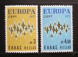 Poštovní známky Øecko 1972 Evropa CEPT Mi# 1106-07