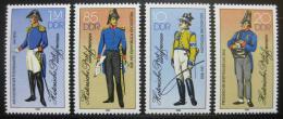 Poštovní známky DDR 1986 Vojenské uniformy Mi# 2997-3000